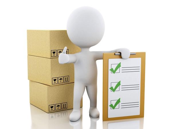 checklist matériel déménagement